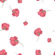 Seamless pattern with red roses. Vector illustration - 232041636