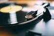Gamophone play vinyl record