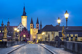 Old town of Wurzburg, Germany at dusk. View from Old Main Bridge - 232051872