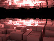 abstract cubes background city 3d. 3d rendered illustration - 232072665