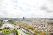 aerial view of paris from eiffel tower - 232094617