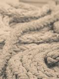 Old fashioned harbor marina sailboat ropes - 232097459