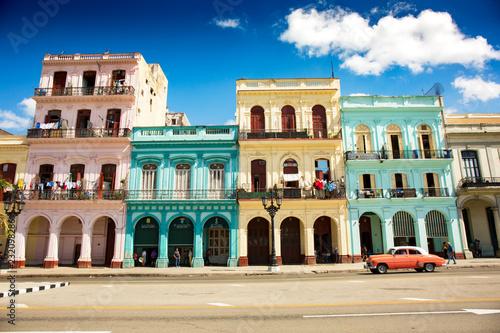 mata magnetyczna Colonial buildings in Havana, Cuba (High resolution)
