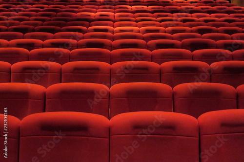 Foto Murales Sièges rouges de salle de spectacle. Cinéma; théâtre, concerts