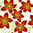 seamless pattern with flowers - 232104457
