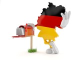 German character with mailbox - 232108280