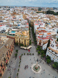 Seville skyline and streets from above - 232109659