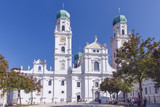 Cathedral of Passau with the monument of king Maximilian from 1824. - 232111222