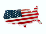 3D USA borderline with national flag colors - 232112630