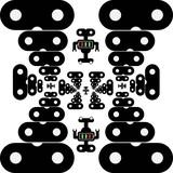 Robot seamless pattern. White background. Modern vector illustration.