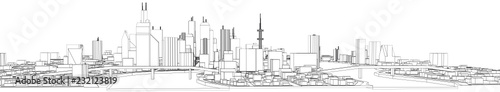 city buildings vector illustration - 232123819