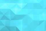 Abstract cyan digital low poly pattern 3d - 232126206