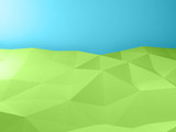 Abstract low poly landscape background 3 d - 232126224
