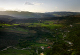 Beautiful view of nature and the houses of Spain in the province of Andalusia - 232126675