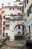 Narrow street in Trieste, Italy - 232135637
