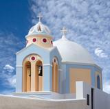 Catholic Church of Saint Stylianos in Thira on Santorini, Cyclades, Greece - 232138261
