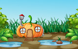 Enchanted pumpkin house in nature - 232142837