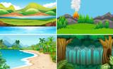 Set of nature landscape - 232142839