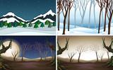 Set of nature background - 232143651