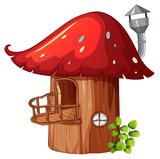 Enchanted mushroom wooden house - 232143671