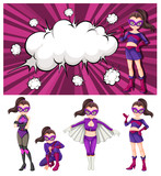 Set of woman superhero - 232143843