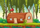Enchanted wooden house in nature - 232143847