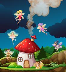 Fairy at mushroon house