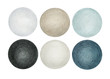 Circles, blue&grey colors, color pencils, hand drawn, high resolution, isolated on white