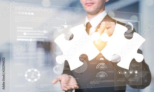 Leinwanddruck Bild Business concept.