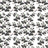 Seamless cute panda wallpaper - 232147000