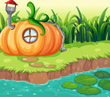 Enchanted pumpkin house in nature - 232148291