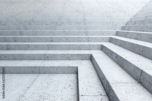 empty stairs in the city