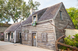 The Oldest Wooden School House, a popular tourist attraction in St Augustine, Florida, was one of the first co-ed classrooms in the country, educating both girls and boys. - 232158085
