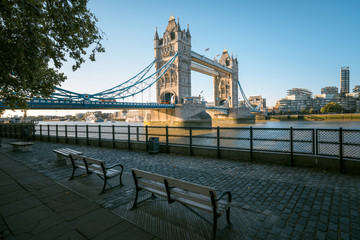 tower bridge in sunny morning London, UK © Iakov Kalinin