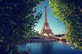 Seine in Paris with Eiffel tower - 232160039
