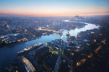 London aerial view with Tower Bridge, UK - 232160876