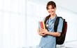 Leinwanddruck Bild - Attractive young female doctor student on background