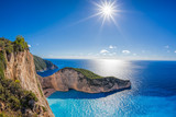 Navagio beach with shipwreck on Zakynthos island in Greece - 232166087