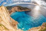 Navagio beach with shipwreck on Zakynthos island in Greece - 232166248
