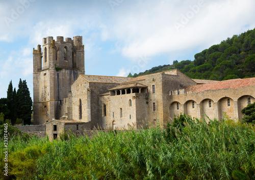 Image of Castle of Abbey Sainte-Marie d'Orbieu, part of history of Lagrasse