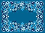Rectangular frame doodles color sketch - 232174885