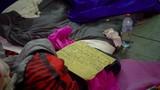 Tilt up to Homeless Person's Belongings - 232175241