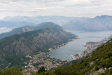 View from Mount Lovcen to the bay.