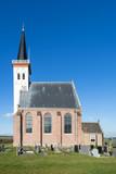 Dutch Reformed Church (Hervormde Kerk) in Den Hoorn on the Dutch island of Texel, built in the fifteenth century. - 232181069