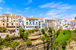 Leinwanddruck Bild - White houses in Ronda village in spring, Andalusia, Spain