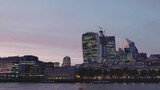Time lapse day to night London across Thames river.  - 232186039
