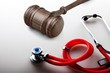 Leinwanddruck Bild - Stethoscope equipment object on backgrouund