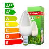 Saving energy consumption concept. Energy savings LED lamp with cardboard box. 3D rendering - 232190095
