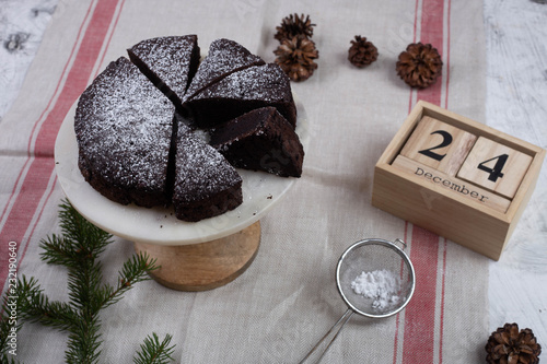 Wall mural christmas cake and decorations