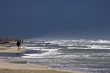 beach bad weather